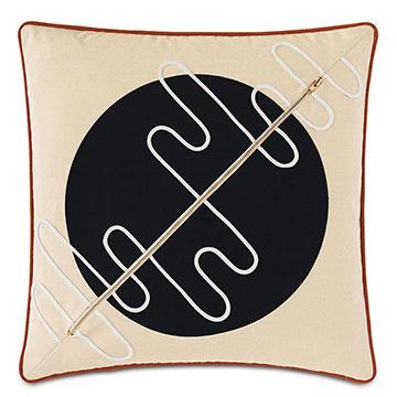 Belleair Zipper Decorative Pillow in Black