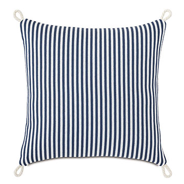 Villa Cord Knot Decorative Pillow in Navy