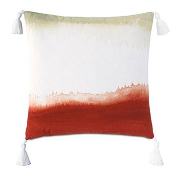 Talbot Handpainted Decorative Pillow in Rust