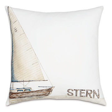 Stern Handpainted Decorative Pillow