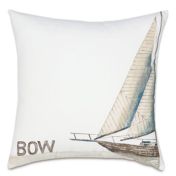 Bow Handpainted Decorative Pillow