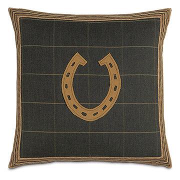 Gable Horseshoe Decorative Pillow