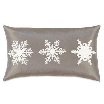 Dreamsicle Snowflakes Decorative Pillow