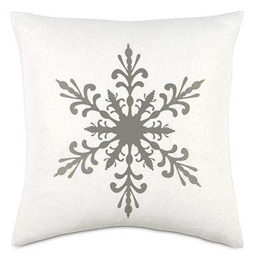 Snowflake Lasercut Decorative Pillow