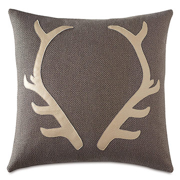 Lodge Antlers Decorative Pillow