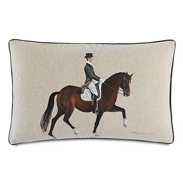 Azra Handpainted Decorative Pillow in Gait
