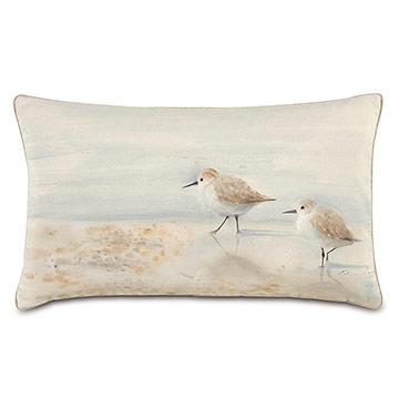 Shell Handpainted Decorative Pillow