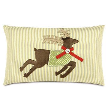 Jingle Reindeer Decorative Pillow