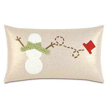 Lilly Snowman Decorative Pillow