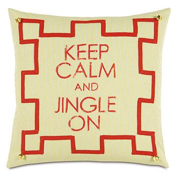 Jingle Blockprinted Decorative Pillow