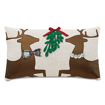 Prancer Applique Decorative Pillow
