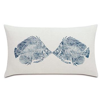 Marine Blockprinted Decorative Pillow