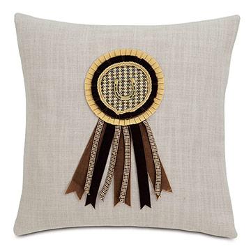 Equestrian Ribbon Decorative Pillow