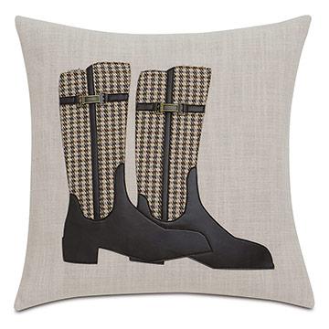Equestrian Boots Decorative Pillow