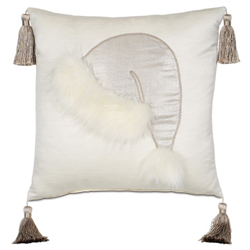 Santa Faux Fur Decorative Pillow