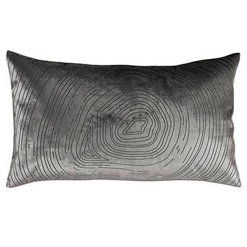 Geode Lasercut Decorative Pillow in Pewter