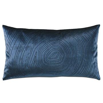 Geode Lasercut Decorative Pillow in Midnight