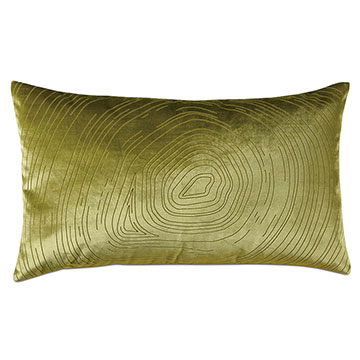 Geode Lasercut Decorative Pillow in Chartreuse