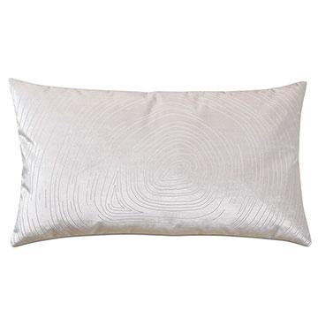 Geode Lasercut Decorative Pillow in Snow