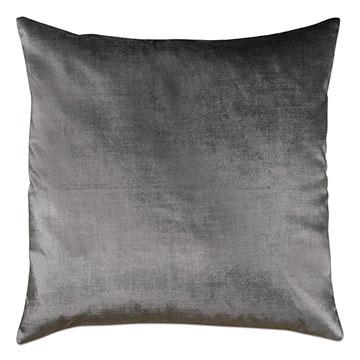 Geode Velvet Decorative Pillow in Pewter