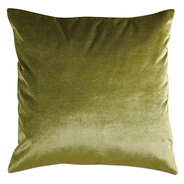 Geode Velvet Decorative Pillow in Chartreuse