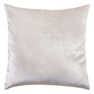 Geode Velvet Decorative Pillow in Snow