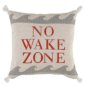Wave Blockprinted Decorative Pillow