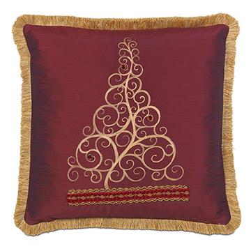 Noel Handpainted Decorative Pillow