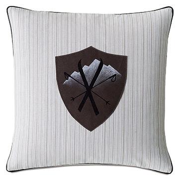 Lodge Leather Badge Decorative Pillow