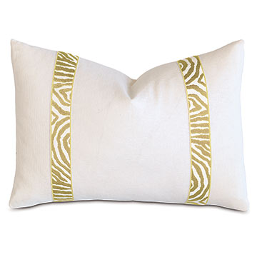 Filly White With Citron Border