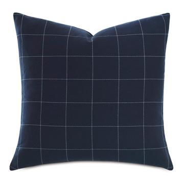Ladue Checkered Accent Pillow In Indigo