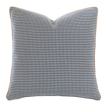 Ladue Houndstooth Accent Pillow In Indigo