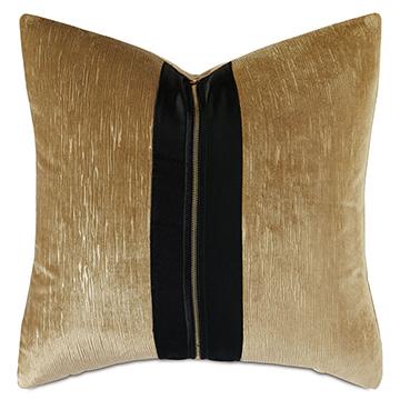 Park Avenue Zipper Decorative Pillow