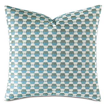 Twin Palms Geometric Decorative Pillow