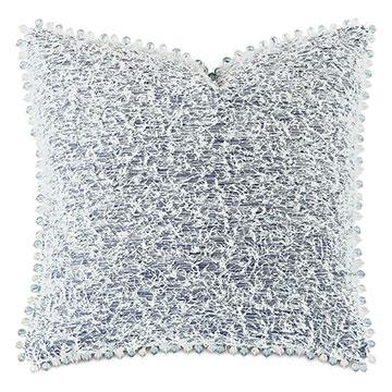 Montecito Beaded Trim Decorative Pillow