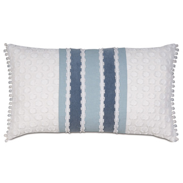 Penelope Frilly Trim Decorative Pillow