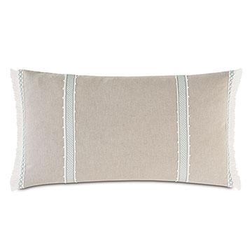 Amberlynn Gimp Detail Decorative Pillow