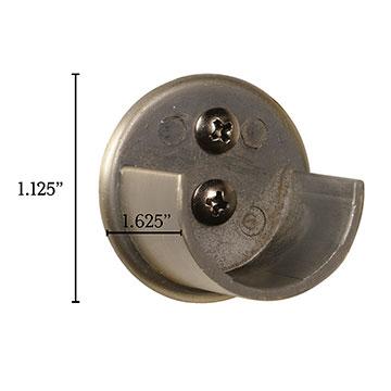 Metallo Brushed Brass Inside Mount Bracket Pair