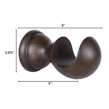 Legna Walnut Standard Bracket