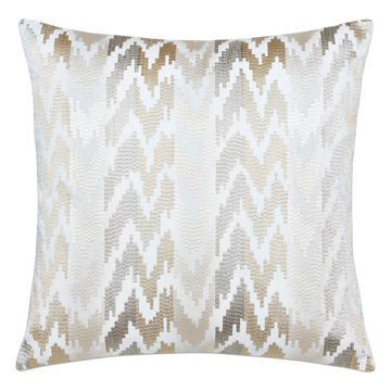 Veda Embroidered Decorative Pillow In Neutral