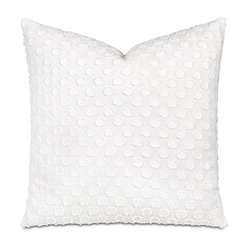 Lilla Polkadot Decorative Pillow In White