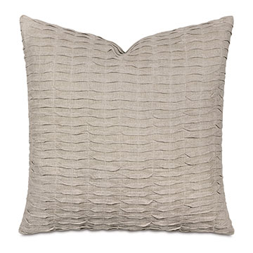 Yearling Pleated Decorative Pillow In Flax