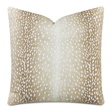 Wiley Animal Print Decorative Pillow In Fawn
