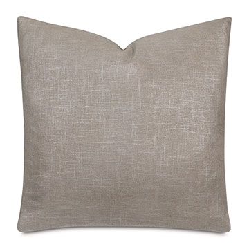 Reflection Metallic Decorative Pillow In Champagne