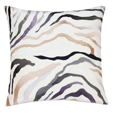 Della Embroidered Decorative Pillow