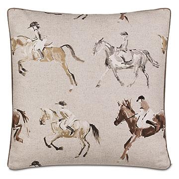 Jockey Equestrian Decorative Pillow