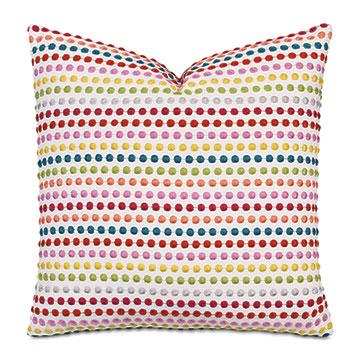 Zita Embroidered Decorative Pillow