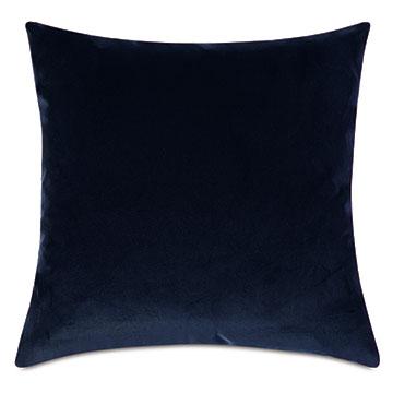 Plush Velvet Decorative Pillow In Navy