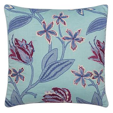 Beaulah Aqua Decorative Pillow