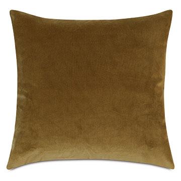 Plush Velvet Decorative Pillow In Citrine